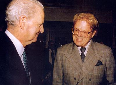 Herb Mallard and Jim Baker conversing